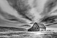 Radial Clouds over Barn, Infrared
